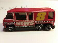 Hot Wheels 2011 GMC Motorhome Red Channel 8 News Trackside Coverage Van