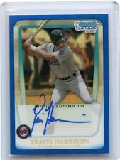 2011 BOWMAN CHROME #BCAP-TH TRAVIS HARRISON AUTOGRAPH BLUE REFRACTOR RC #101/150