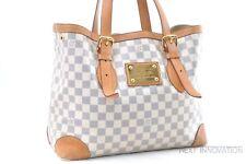 Auth Louis Vuitton Damier Azur Hampstead MM Shoulder Tote Bag N51206 LV 54944