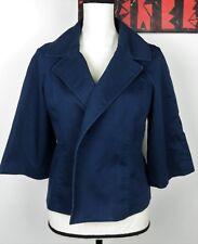 MICHAEL Michael Kors Womens Black 3/4 Wide Sleeve Open Jacket Coat Career Sz S