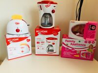 Kitchen toy Toaster, Coffee Machine  Microwave Pink-Electronic Kitchen Play Set