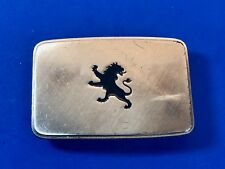 Vintage? Auto Company Logo? Standing Horse fighting lion   Belt Buckle