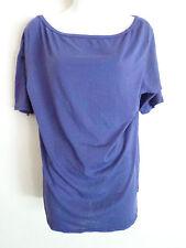 Spiritual Gangster purple t shirt top yoga gymwear loose neck  size M  made usa