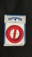 Rare Vintage Mid Century Red Bakelite Fashionable Buckle