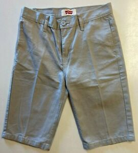Levis 100% Cotton Shorts Beige Boys Size 16 Regular - New Without Tags