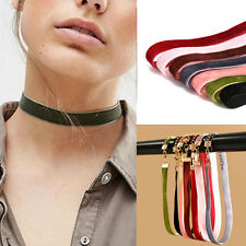 7Pcs/Set Velvet Choker Collar Pendant Necklace Gothic Punk Handmade Jewelry hs