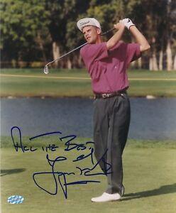 Jesper Parnevik Signed 8x10 Photo Autograph Auto Mounted Memories