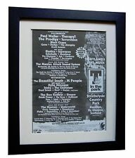 T IN THE PARK+1995+ROCK+POSTER+AD+FRAMED+ORIGINAL+EXPRESS GLOBAL SHIP+TICKETS