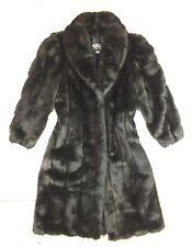Vintage USA Olympia Limited Inc Women's Medium Petite Faux Fur Jacket Coat Long