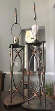 Vintage Table Lamps Pair, Kovacs, Steel/Copper, Rare