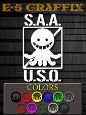 S.A.A.U.S.O. Assassination Classroom Vinyl Decal Anime Anti Koro Sensei