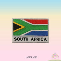 South Africa National Flag With Name Embroidered Iron On Patch Sew On Badge