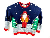 Jolly Sweaters Santa Men Size 2XL XXL Red Ugly Christmas LS Knitted Sweater