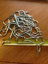 """~ 25 ~ 2- 5/8"""" X 1 1/8""""  3/16"""" HITCH PIN CLIP COTTER TRACTOR PINS ZINC NEW"""