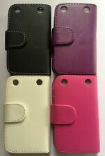 Book style PU leather folio, flip phone case, cover to fit Blackberry Curve 9320