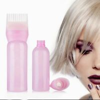 120ML Root Comb Applicator Bottle with Graduated Salon Hair Coloring Dyeing