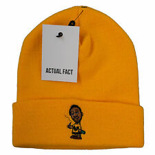 Actual Fact ODB Smoke Beanie Winter Wu Tang Yellow Wooly Hat