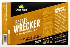 Green Flash Brewing PALATE WRECKER beer label CA 22oz