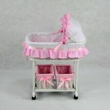 New Dolls Julia Classic Rocker Cradle White Cane Doll Bed Girls