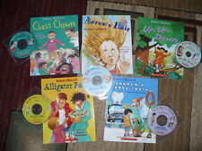 Lot of 5 Robert Munsch Scholastic Books with read along CD's