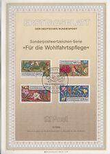 TIMBRE FDC ALLEMAGNE BERLIN OBL ERSTTAGSBLATT FLEURS ET ANIMAUX  1985