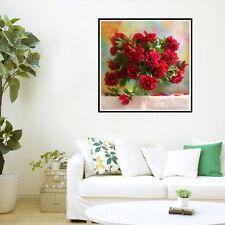Rot Blume Diamant Stickerei Mosaik Malerei Kreuzstich Stickpackung Wandbild