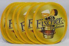FISCHER BIERE ALSACE 6 Sous-bock sous-verre carton NEUF