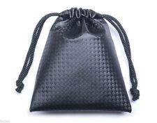 Black Soft Storage Bag Case for Earphone Earbud Bluetooth Headset