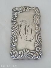 Antique Victorian Sterling Silver Match Safe / Vesta Engraved Design