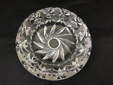 Ashtray Glass Ashtray Tabletop Ashtray Smoke Collectible Flower Swirl Crystal