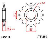 YAMAHA FZ6 FAZER FZ750 GENISIS FZ700 FZX700 JTF580-16 JT FRONT SPROCKET NEW