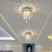 Mini Style 3-Light Chrome Finish Crystal Chandelier Pendent Light for Hallway
