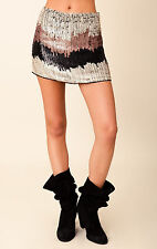 BLU MOON Zig Zag Sequin Miniskirt Mini SKIRT Cascading Sequins MEDIUM NEW $220