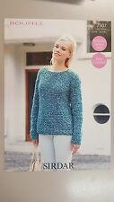 Sirdar Knitting Pattern #7507 Ladies Jumper to Knit in Sirdar Bouffle Yarn