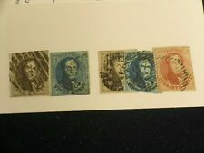 Belgium Stamps -1851 5 stamps 6, 7, 8 Used