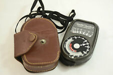 VINTAGE WESTON MASTER II MODEL 735 CAMERA LIGHT METER WITH CASE AND STRAP