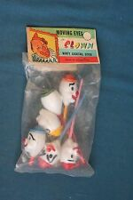 vintage moving eyes clown winty cocktail stick hong kong 1960's 1970's rare