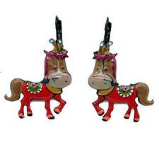 Boucles d'oreilles LOL Bijoux LOLILOTA Horse Cheval De Cirque BFLOL047-rouge
