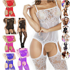 Nightwear New Bodystocking Fishnet Lingerie Body Stocking Chemise Bodysuit Women