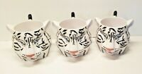 3-Large Mug  Cup Siberian White Tiger 2002 The Greatest Show On Earth Circus