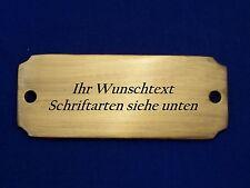 Namensschild, Türschild Messing 9,9 cm x 3,8 cm mit Wunschgravur