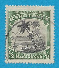 "Cook Islands 61  Used  ""Landing of Captain Cook""  (1920)"