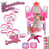 Girls Glamour Dressing Table Mirror Play Set Kids Princes Makeup Game Toy Gift
