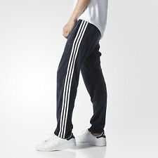 LARGE  adidas Originals MEN'S   Slim Fit  Retro  VELOUR TRACK PANTS  Blue  1AVL