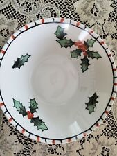 Hutschenreuther Selb Christmas Holly Serving Bowl  Bavaria