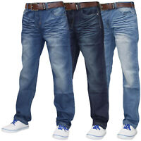 Crosshatch Mens Denim Jeans Zip Fly Regular Fit Trousers Pants Big & Tall Sizes