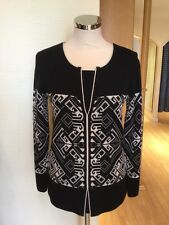 Faber Jumper Size 10 BNWT Black Cream RRP £147 Now £44