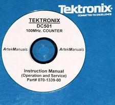 Tektronix TEK DC501 100MHz Counter, Operating & Service Manual w/schematics