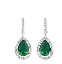 smeraldo orecchini argento sterling pendente grappolo GOCCIA