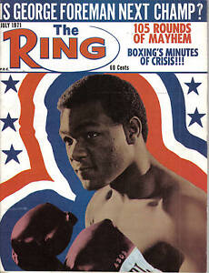 1971 (July) The Ring, Boxing magazine, George Foreman ~ VG condition